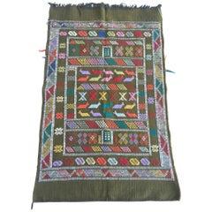 Moroccan Vintage African Tribal Kilim Rug