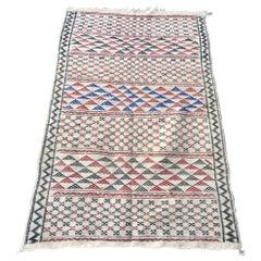 Moroccan Vintage African Tribal Kilim White Rug