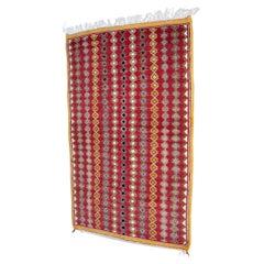 Moroccan Vintage Boujad Hand-Woven Tribal Rug, circa 1980