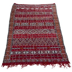 Moroccan Vintage Ethnic Textile with Sequins North Africa, Handira