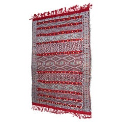 Moroccan Vintage Ethnic Textile with Sequins North Africa, Handira