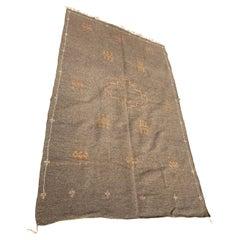 Moroccan Vintage Flat-Weave Brown Rug