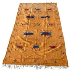 Moroccan Vintage Flat-Weave Sunflower Color Rug