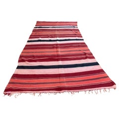 Moroccan Vintage Flat-Weave Tribal Kilim Rug
