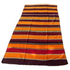 Moroccan Vintage Flat-Weave Tribal Rug