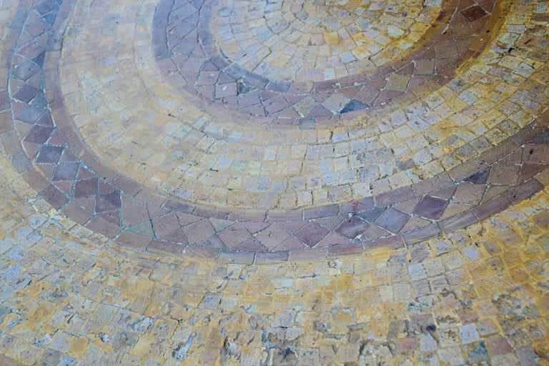 Moroccan Vintage Mosaic Stone Inlaid Table Indoor or Outdoor For Sale 4