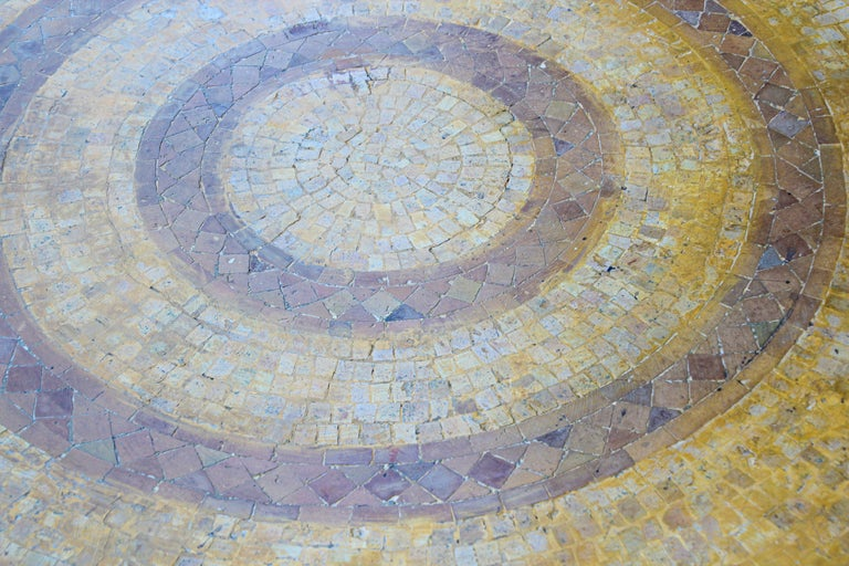 Moroccan Vintage Mosaic Stone Inlaid Table Indoor or Outdoor For Sale 6