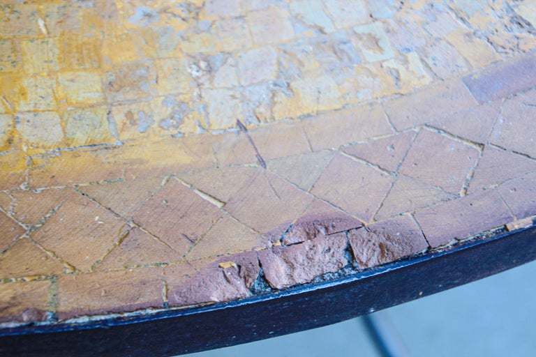 Moroccan Vintage Mosaic Stone Inlaid Table Indoor or Outdoor For Sale 8