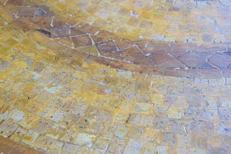 Moroccan Vintage Mosaic Stone Inlaid Table Indoor or Outdoor For Sale 9