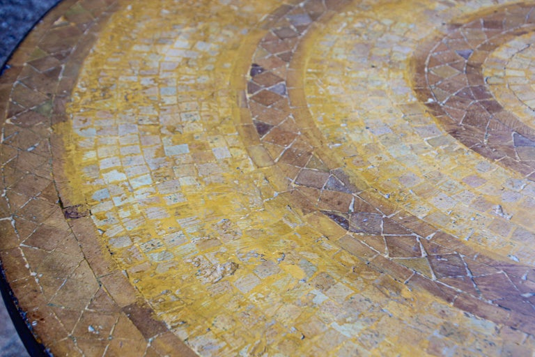 Moroccan Vintage Mosaic Stone Inlaid Table Indoor or Outdoor For Sale 10