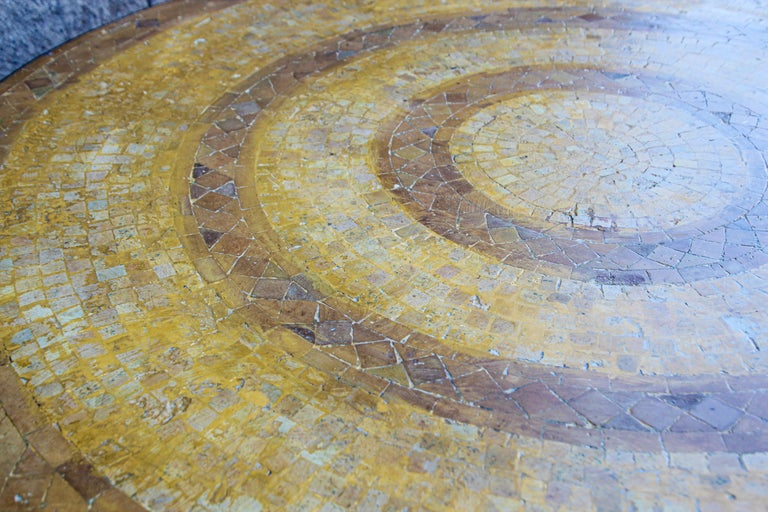 Moroccan Vintage Mosaic Stone Inlaid Table Indoor or Outdoor For Sale 11