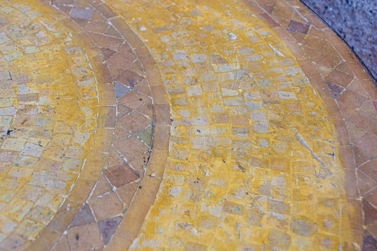 Moroccan Vintage Mosaic Stone Inlaid Table Indoor or Outdoor For Sale 13