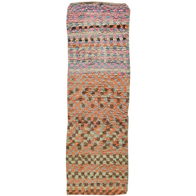 Moroccan Vintage Runner Rug For Sale At 1stdibs