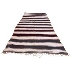 Moroccan Vintage Tribal Kilim Textile, circa 1960