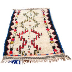 Moroccan Vintage Tribal Rug from Azilal