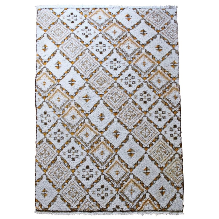 Moroccan Wool Carpet Rabat, 1970 For Sale At 1stdibs