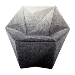 Moroso Gemma Armchair in Blur Black and White by Daniel Libeskind