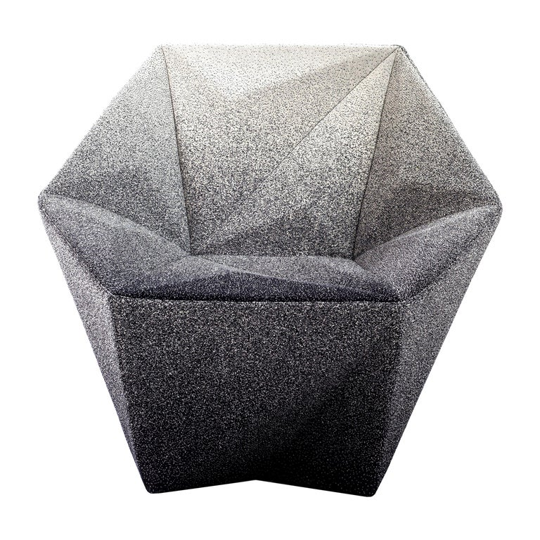 Moroso Gemma Armchair in Blur Black and White by Daniel Libeskind For Sale