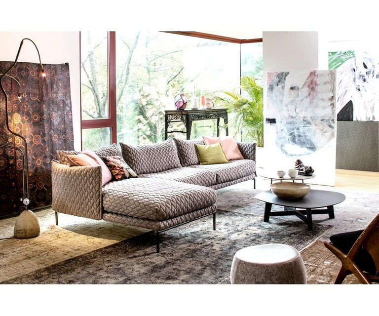 Modern Moroso Gentry Sofa in Big Braid Capuccino by Patricia Urquiola For Sale