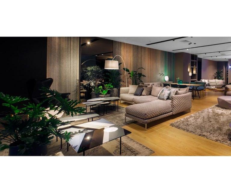 Italian Moroso Gentry Sofa in Big Braid Capuccino by Patricia Urquiola For Sale