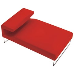 Moroso Lowseat Chaise Lounge in Red Fabric by Patricia Urquiola