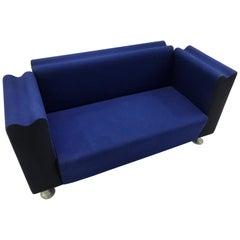 Moroso M Collection Blue Kvadrat Wool Sofa System by Ross Lovegrove