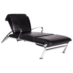 Moroso Massimo Leather Lounger Black Relax function