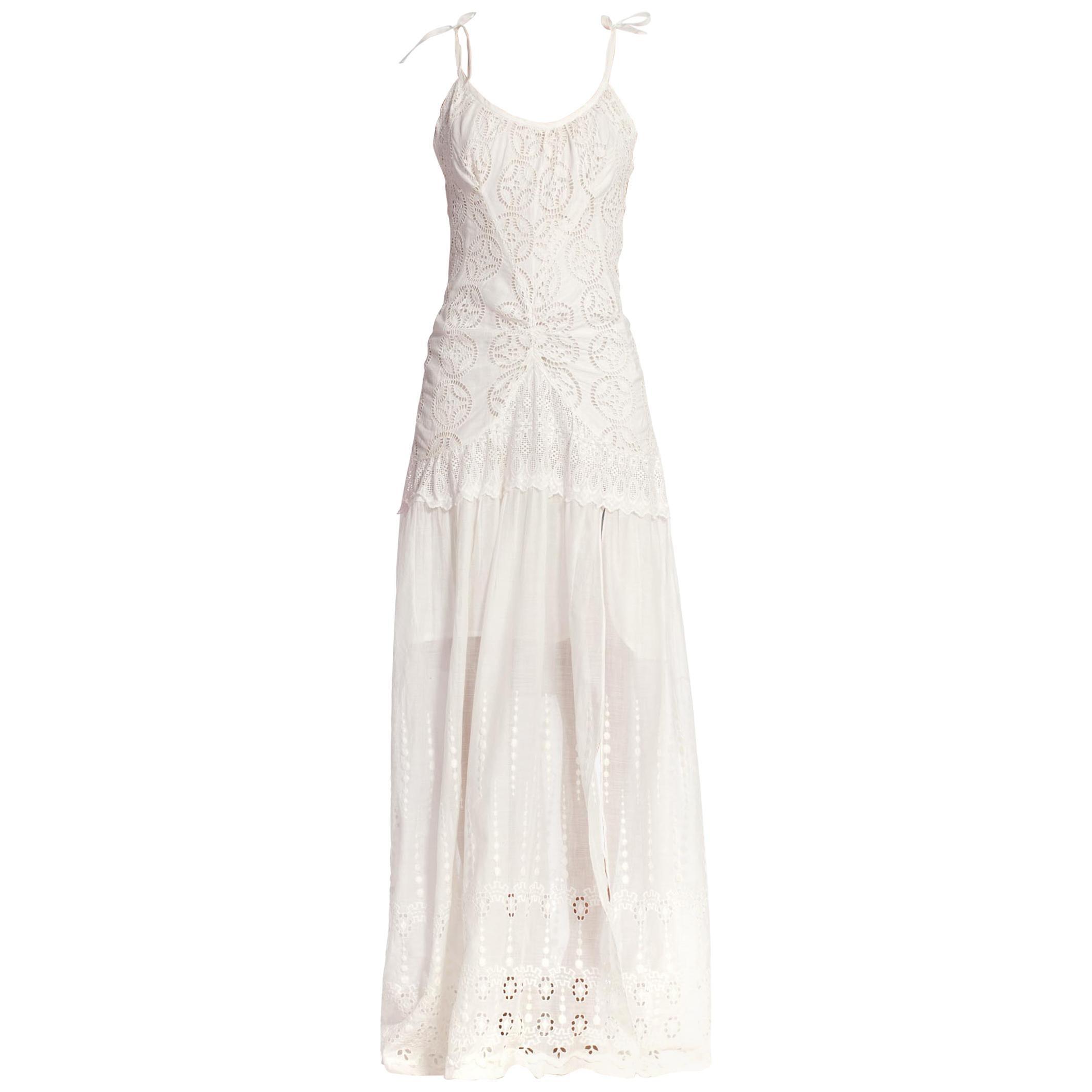 Morphew Collection 1920'S Victorian Cotton Lace Dress