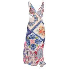 Morphew Bias Dress Made From 1940's Cotton Handkerchiefs