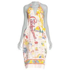 Morphew Collection 1940's Cotton California Tourist Print Dress