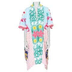 Morphew Collection 1960's Cotton Chenille Blue Beach Robe