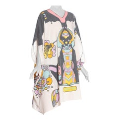 Morphew Collection 1970's Peter Max Psychedelic Print Cotton Kaftan Magic Dress