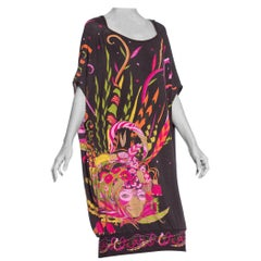 Morphew Collection 1970's Psychedelic Fortune Teller Oversized Rayon Jersey Top