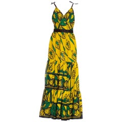 Morphew Collection African Indian Block Print Tribal Cotton Dress