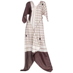 Morphew Collection Bias Kaftan Dress Made from 1960's Silk Scarves