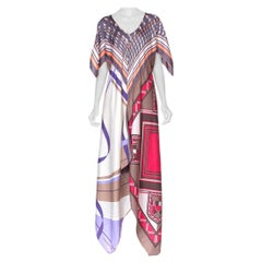 Morphew Collection Bias Scarf Dress Made From Vintage Silk Scarves