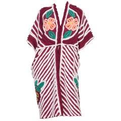 Morphew Collection Cotton Chenille Burgundy Beach Robe