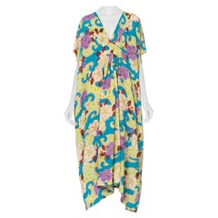 Morphew Collection Floral Vitage 1940's Japenese Kimono Silk Kaftan