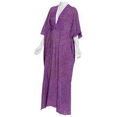 Morphew Collection Kaftan Made From Hand-Dyed Japanese Silk Shibori