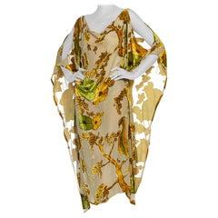 Morphew Collection Peacock Kaftan Made From Sheer Burnout Velvet