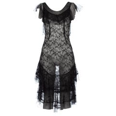 Morphew Collection Sheer Black Lace 1930's