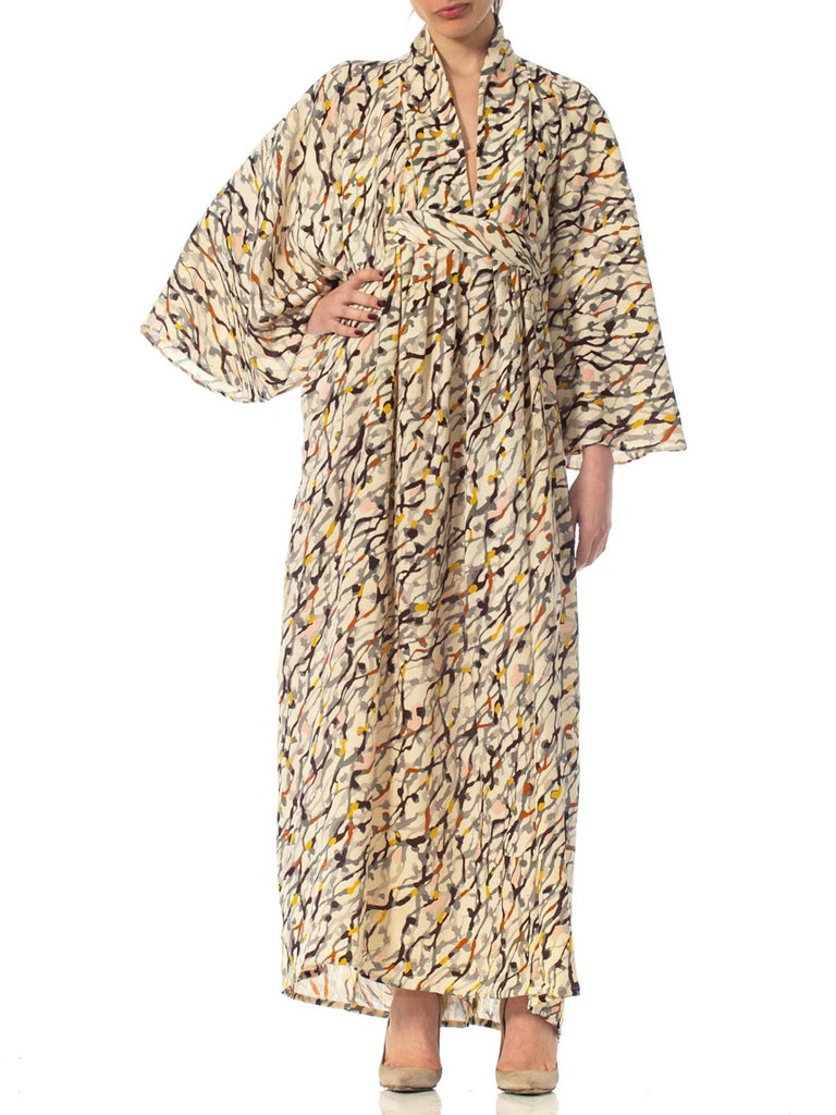 Morphew Collection Silk Kaftan Made From Vintage Japanese Kimono Fabric For Sale 7