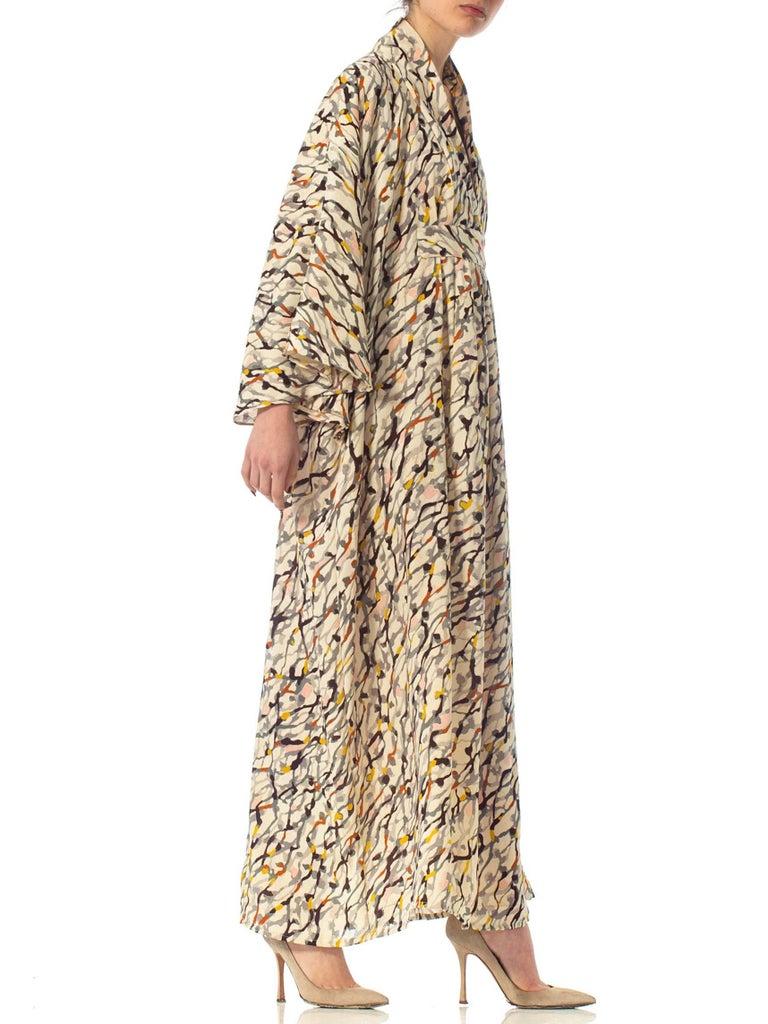 Morphew Collection Silk Kaftan Made From Vintage Japanese Kimono Fabric For Sale 1