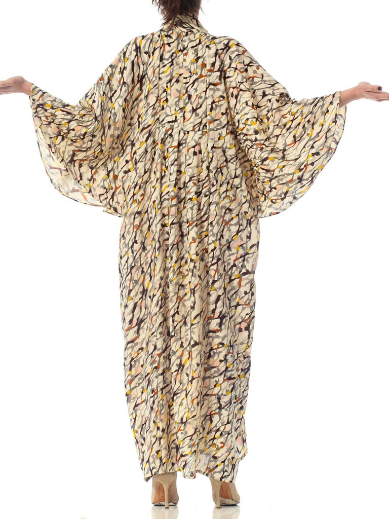 Morphew Collection Silk Kaftan Made From Vintage Japanese Kimono Fabric For Sale 2