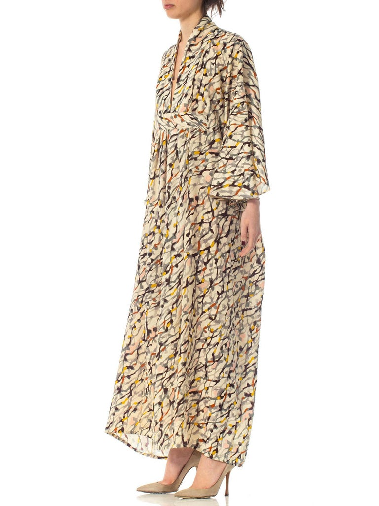 Morphew Collection Silk Kaftan Made From Vintage Japanese Kimono Fabric For Sale 4