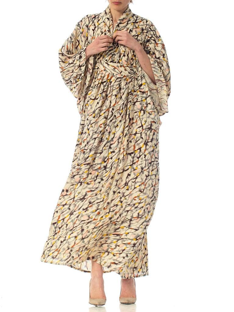 Morphew Collection Silk Kaftan Made From Vintage Japanese Kimono Fabric For Sale 5