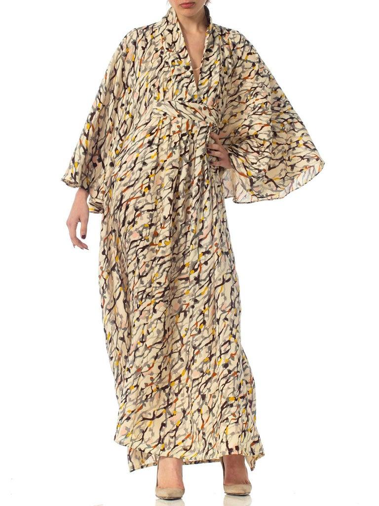 Morphew Collection Silk Kaftan Made From Vintage Japanese Kimono Fabric For Sale 6