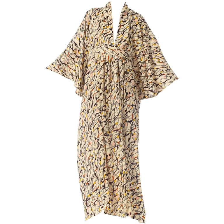 Morphew Collection Silk Kaftan Made From Vintage Japanese Kimono Fabric For Sale
