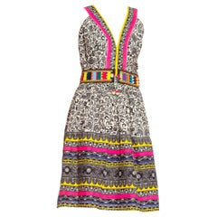 Morphew Collection Vintage 1960's Cotton Dress With Handmade Ethnic Patchwork