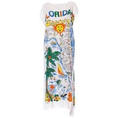 MORPHEW COLLECTION White Cotton Terry Cloth Vintage 1960S Florida Tourist Beach